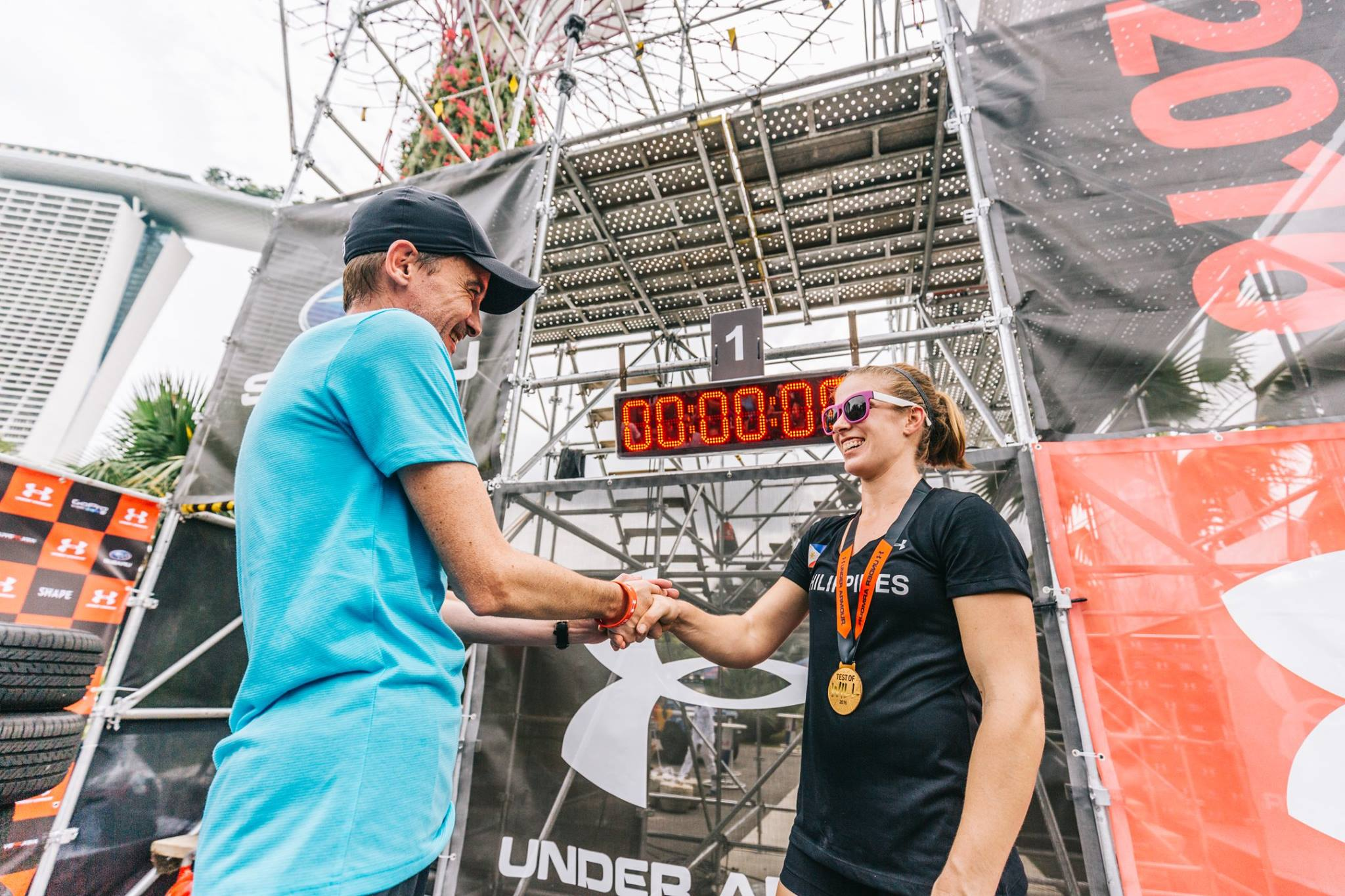 Coach Zoe on her pulpit finish.  Photo by Under Armour SEA .