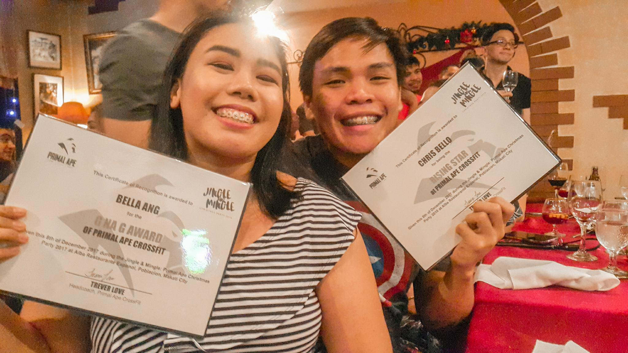 Team Series partners Bella Ang and Chris Bello were recognized at at he Ape Awards 2017