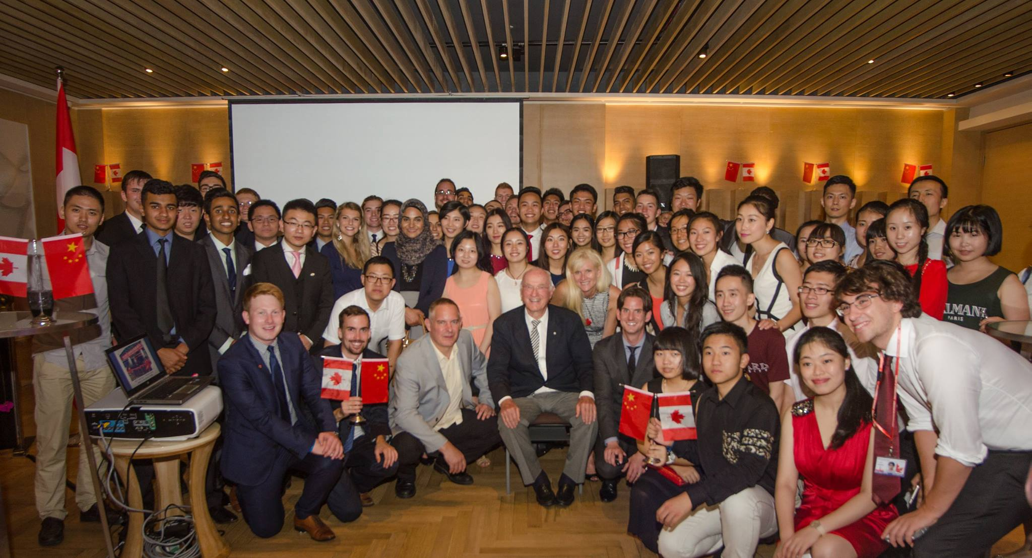 Junior Team canada 2015 with CONsul general of canada to Chongqing, Philippe rheault at OUR RECEPTION IN CHONGQING ON JULY 30, 2015