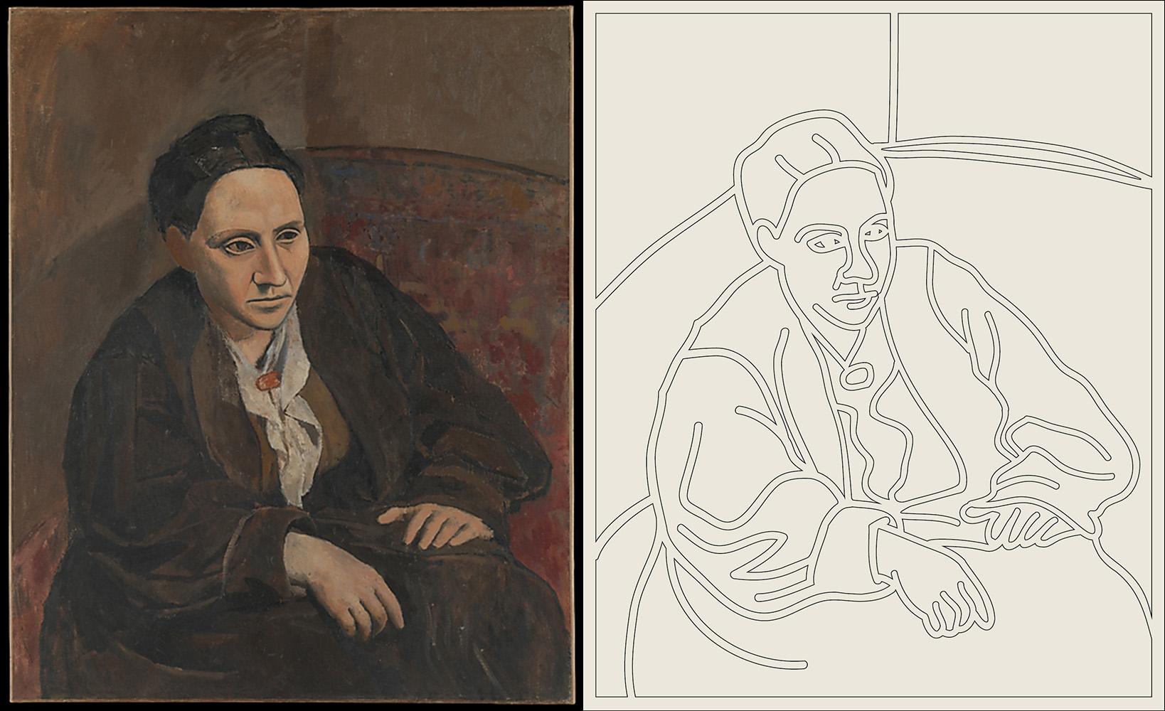 Gertrude Stein , Pablo Picasso, 1905-6
