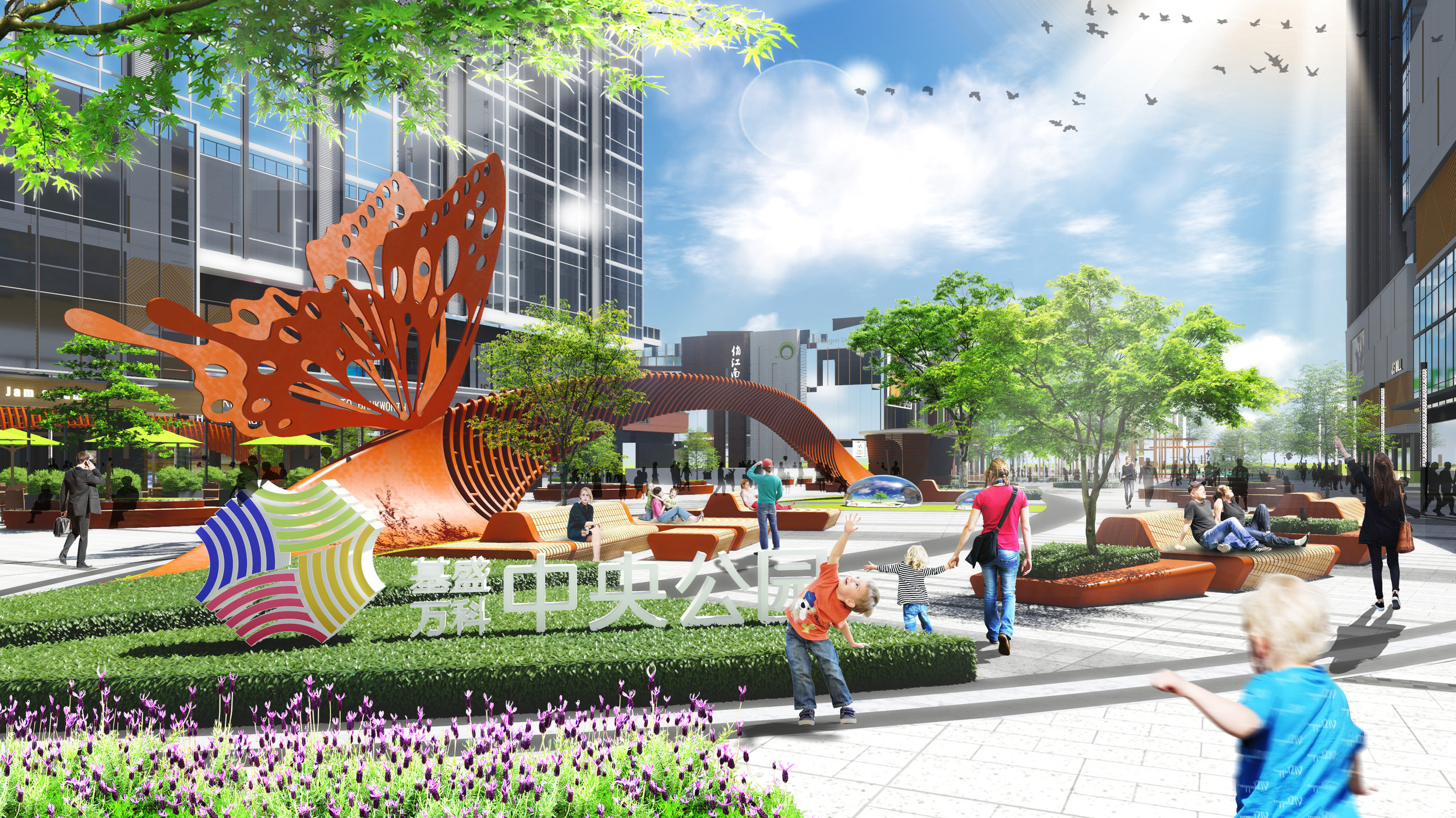 Rendering | view of main entrance