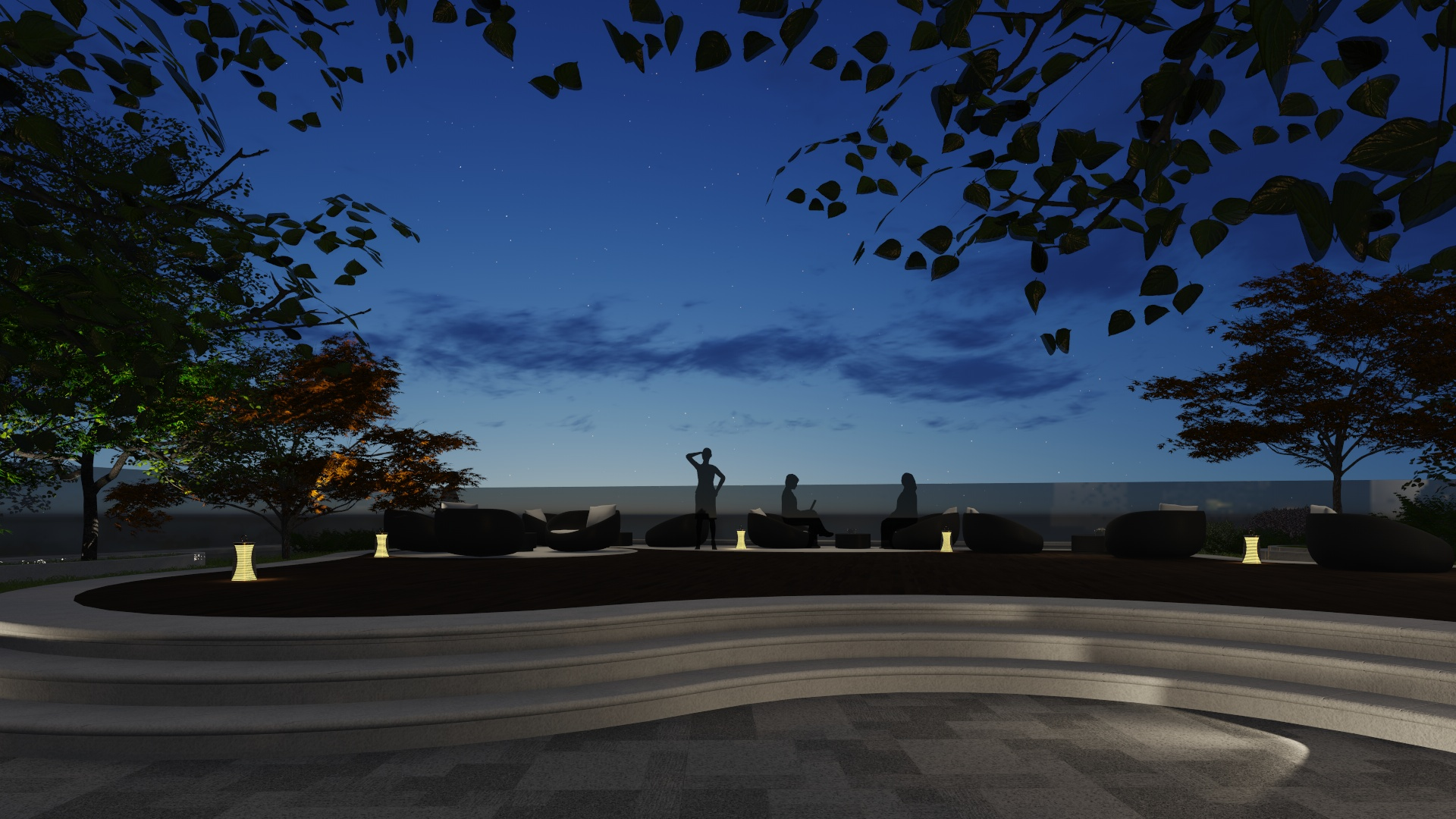 Rendering | Raised patio to create a moment of best lake view