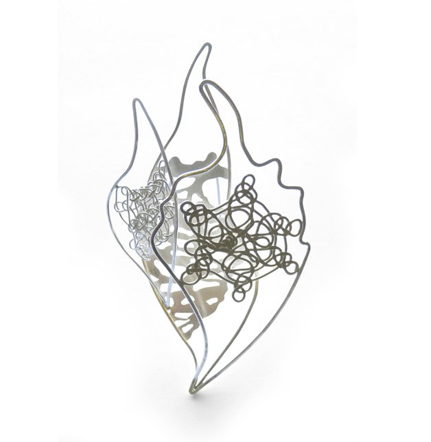 Papilio Cluster  sterling silver (Can be worn as a hairpiece or brooch)