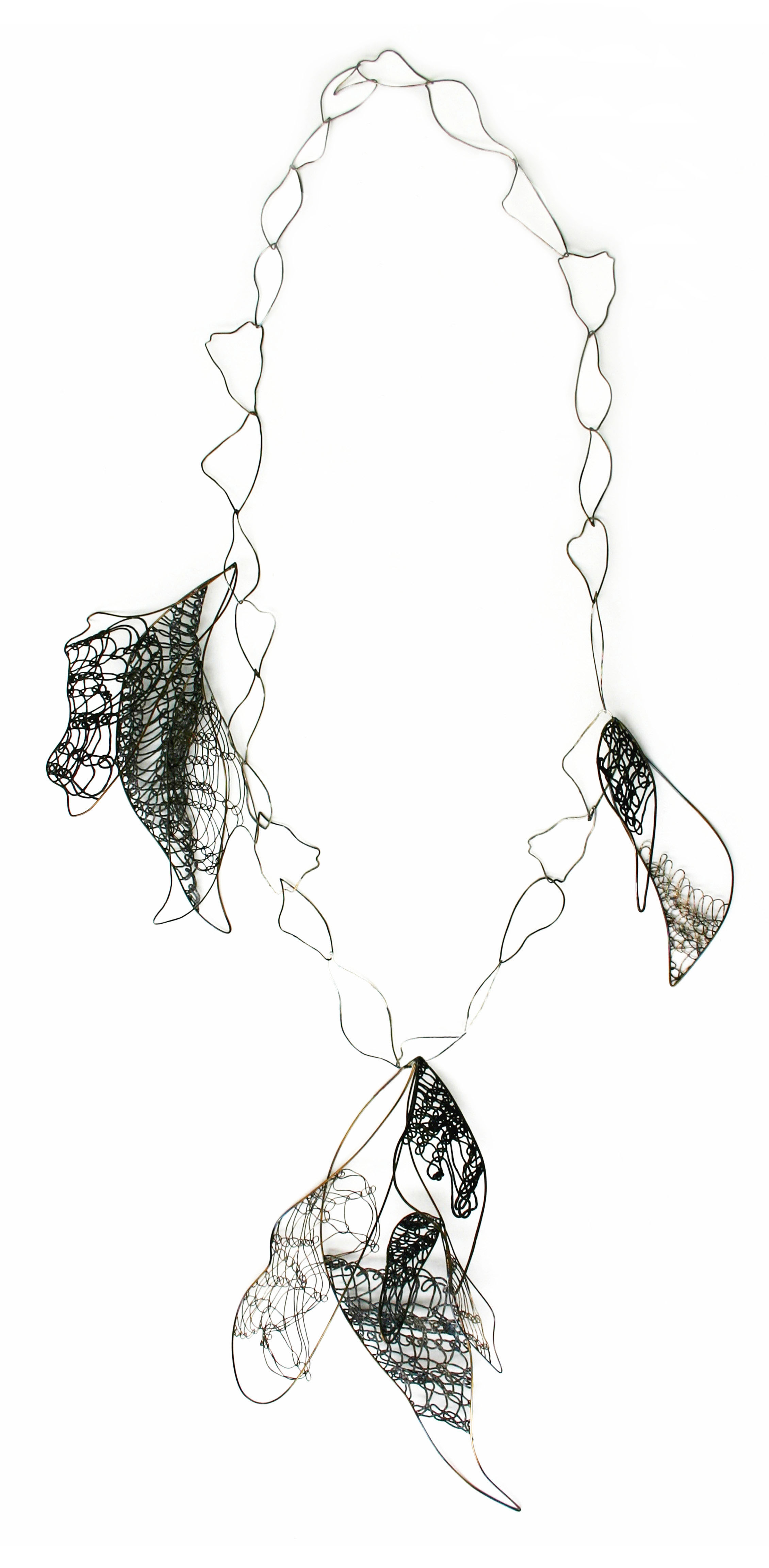 Linked Wings Neckpiece (Large);  iron, stainless steel 2009