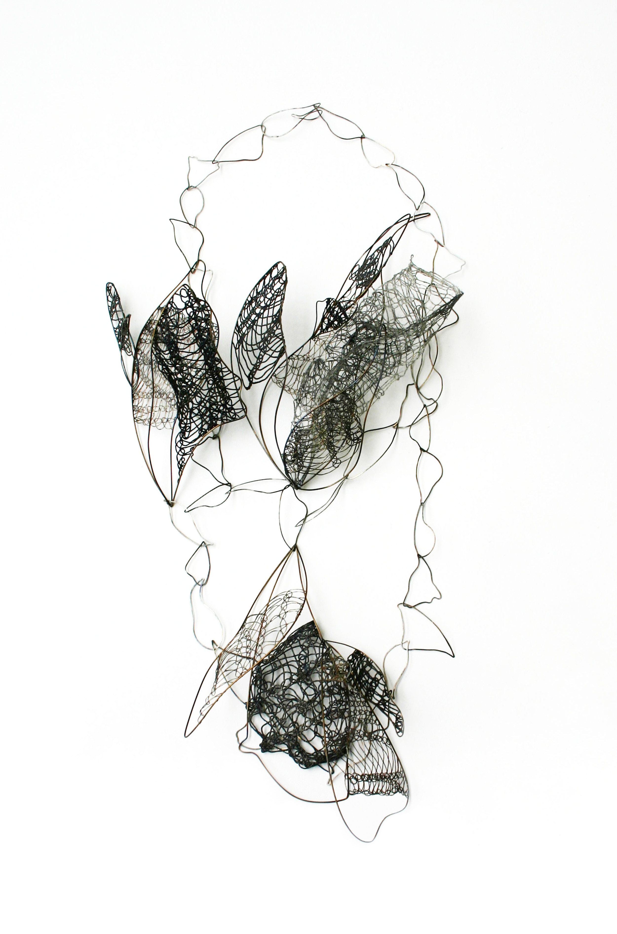 Snare Neckpiece    -  iron, stainless steel, thread. 2009