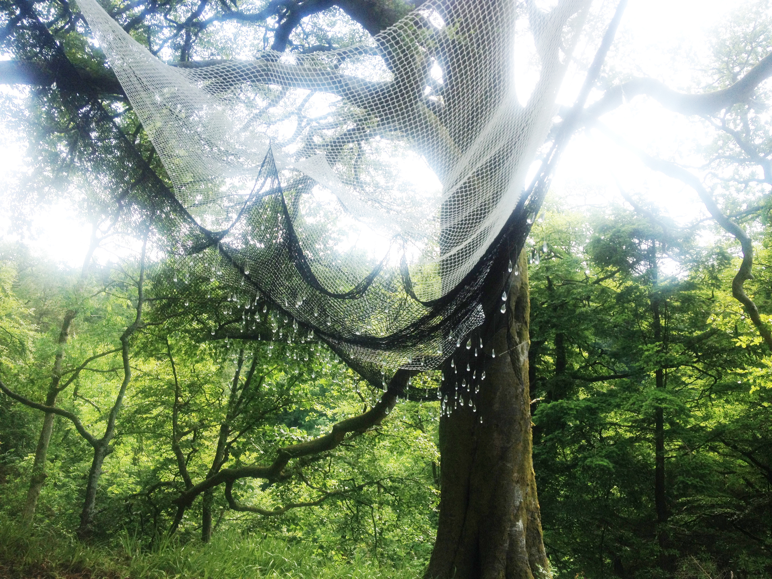 If Your Tears Could Speak -  local waste fishing net, glass. at Kelburn Castle and Country Estate. 2015