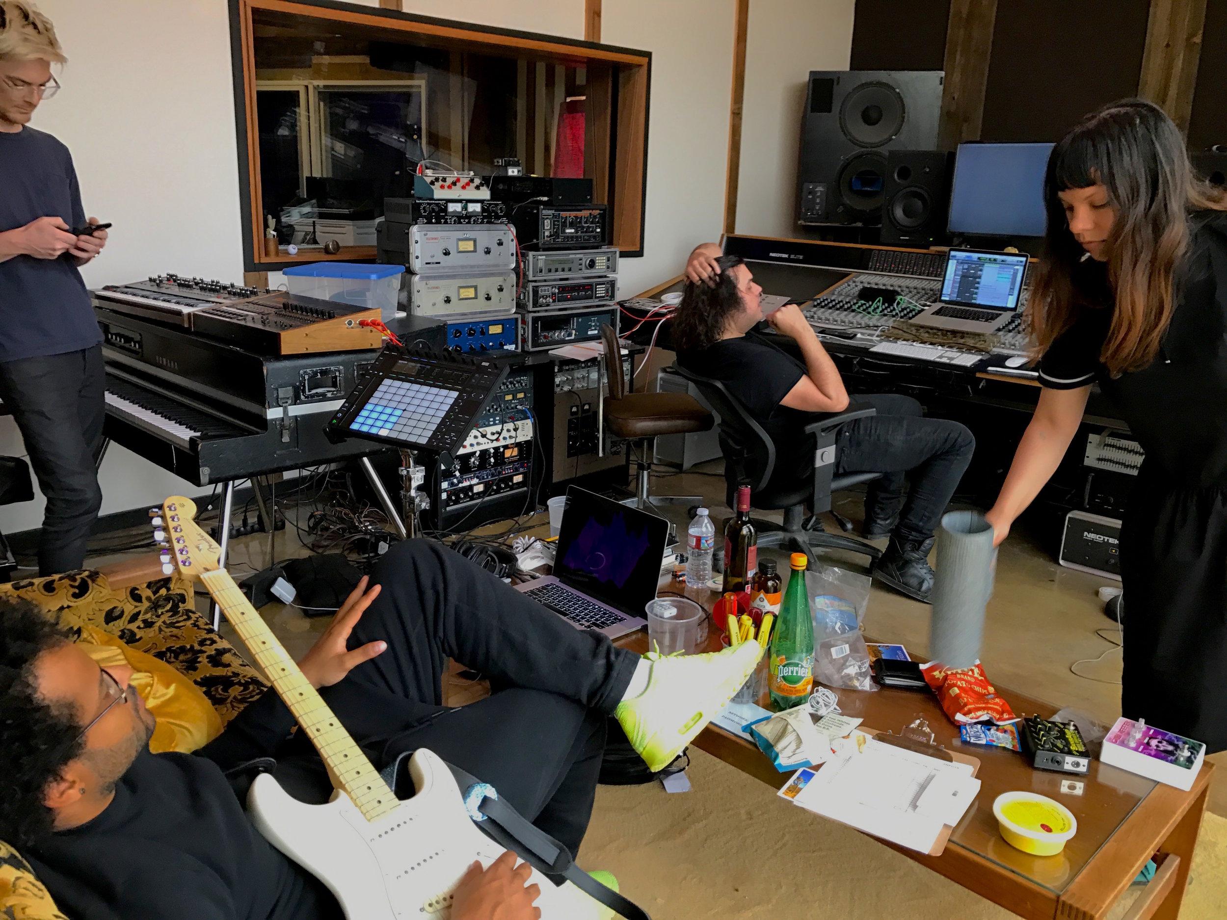 Twin Shadow Wynne Bennett Nate Donmoyer BJ Burton @ Gatos Trail Recording Studio.jpg
