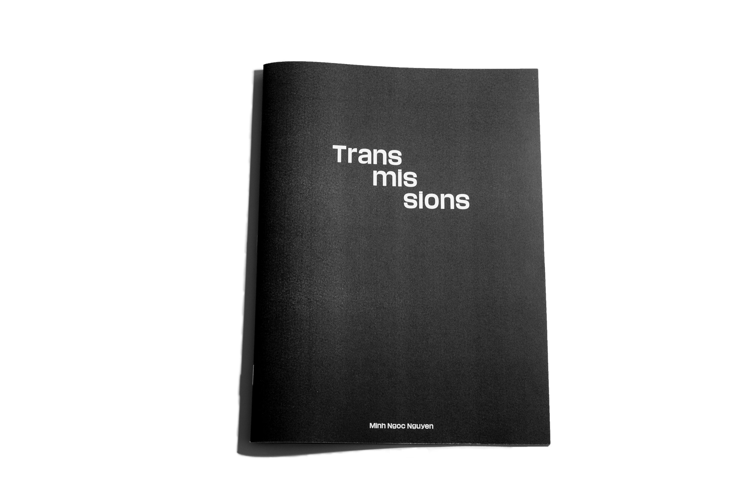 """""""TRANSMISSIONS"""" (2019)   24x18cm, 28pages, stapled zine   Designed by Funch Studio"""