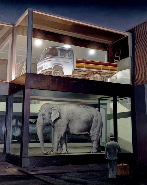 """""""Elefante mal Aparcado""""   SOLD"""