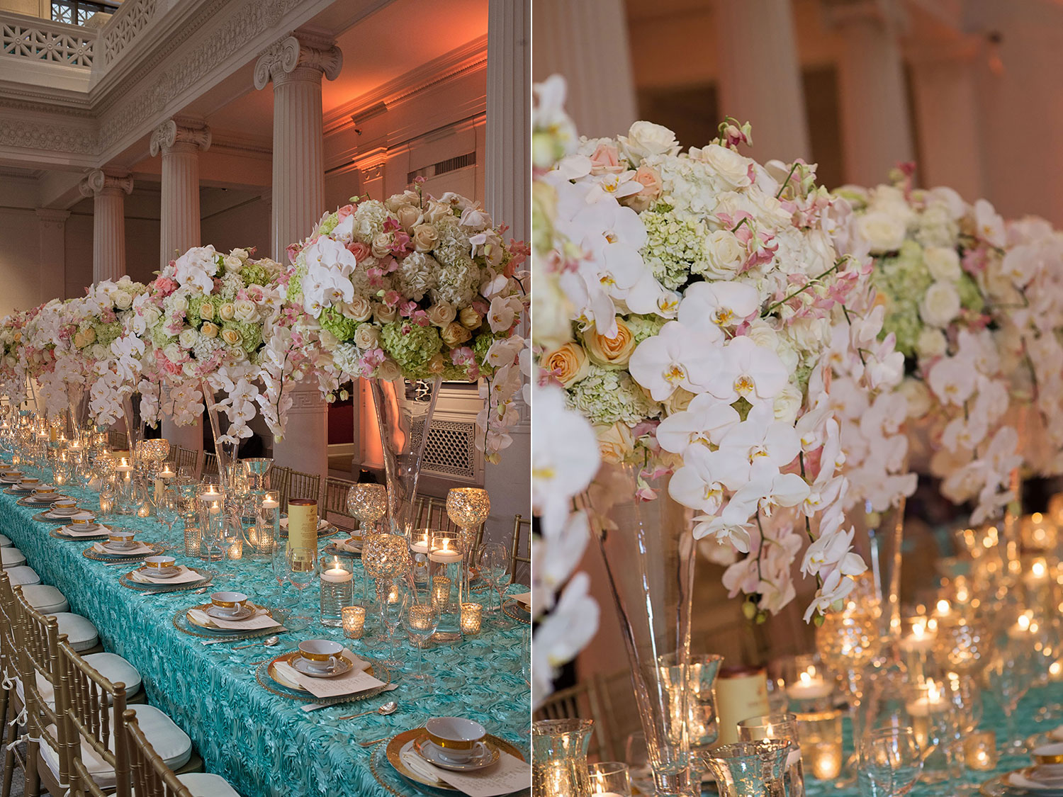 sapphireevents.com | New Orleans Wedding Planning and Design | Atrium of the Museum of Art Wedding Reception | Ardent Studio | Sapphire Events