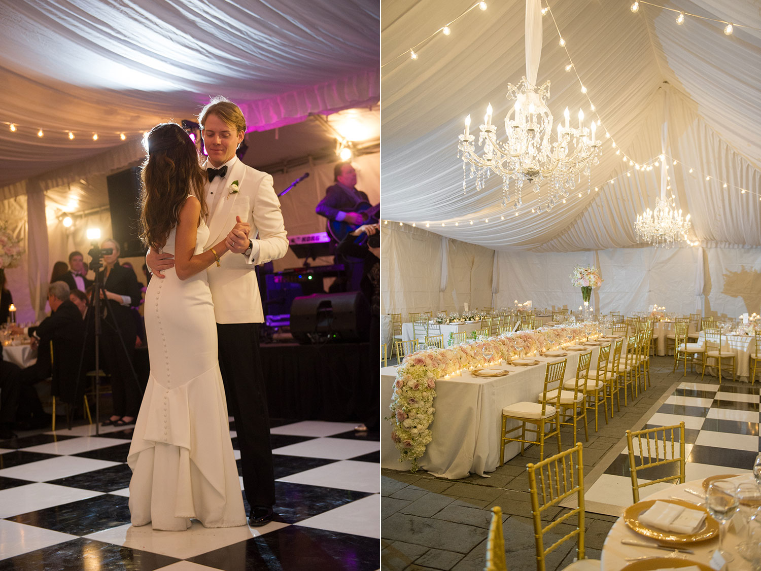 sapphireevents.com   New Orleans Wedding Planner and Designer   Black Tie Wedding at French Quarter's Old Ursuline Convent   Sapphire Events