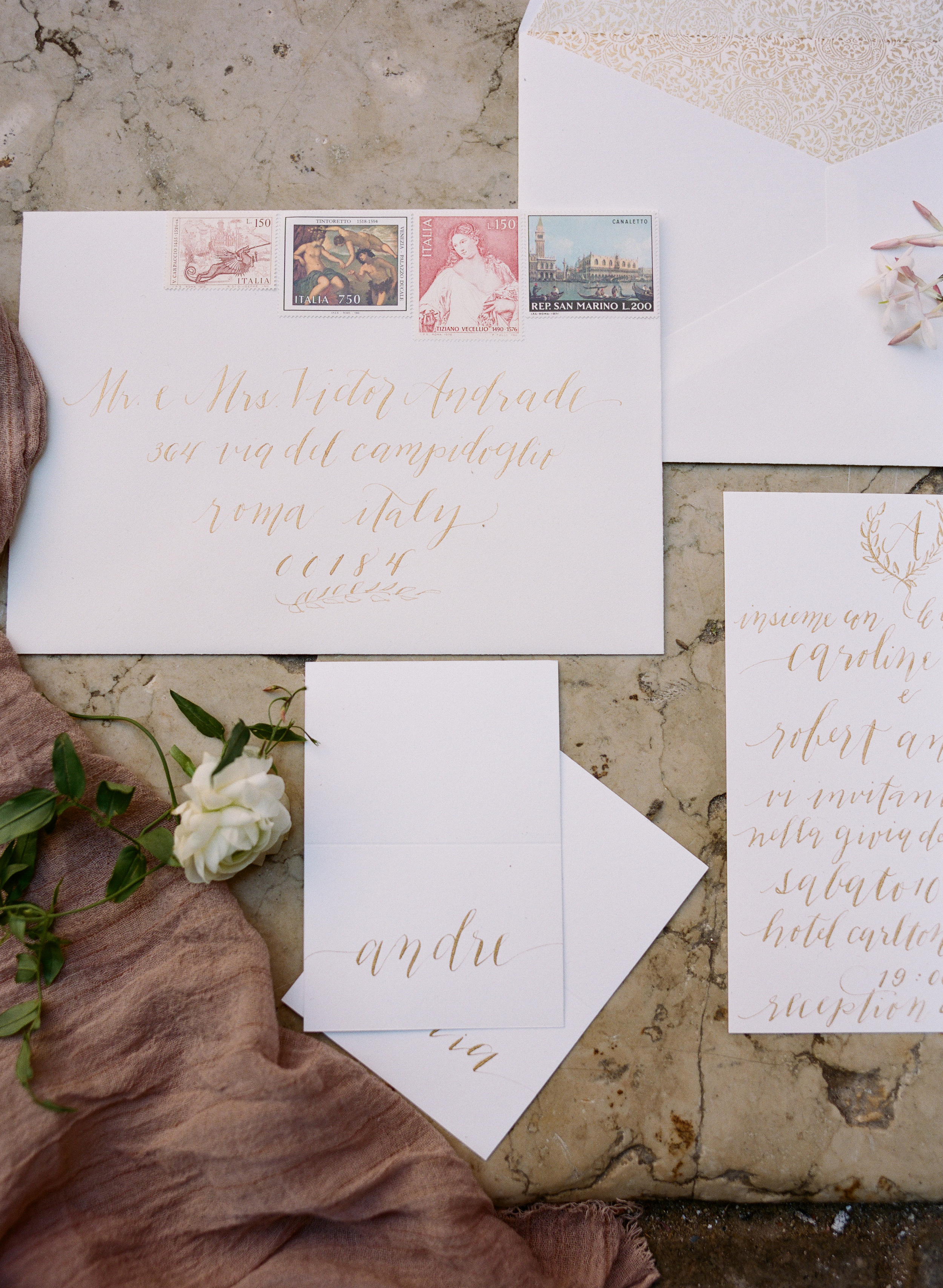 sapphireevents.com | Sapphire Events New Orleans and Destination Luxury Wedding Planning and Design | Elopement in Venice Inspiration | Archetype Studio | Laura Hooper Calligraphy