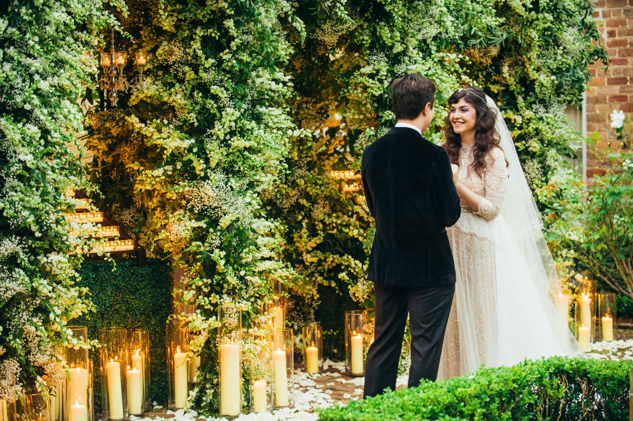 Twilight Inspired Wedding | Larkspur Wedding Flowers | Romantic New Year's Eve Wedding | Sapphire Events