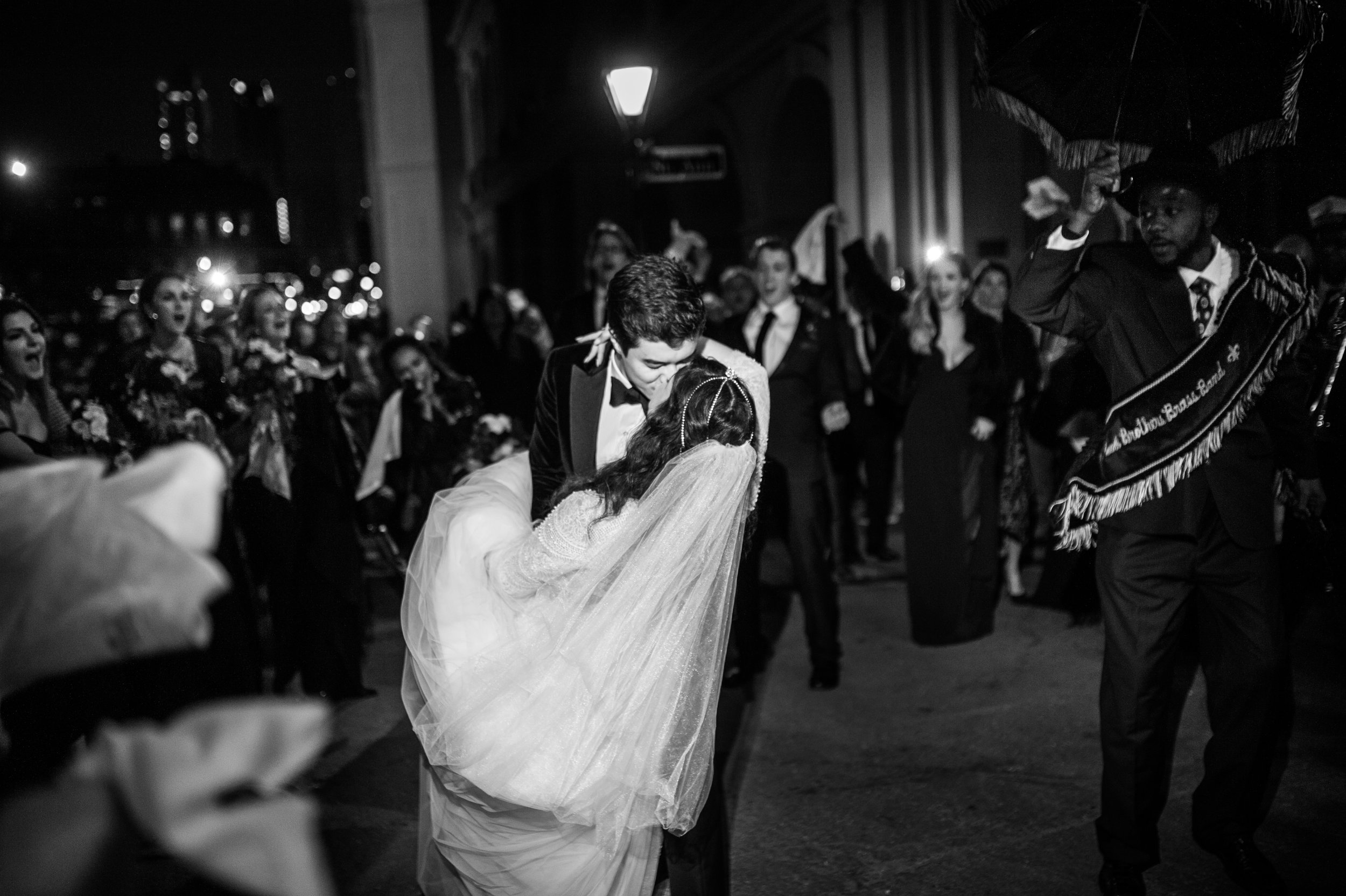 Must-Have Wedding Day Shot | First Kiss | Second Line Wedding | NYE Wedding | Sapphire Events | New Orleans Wedding Planner