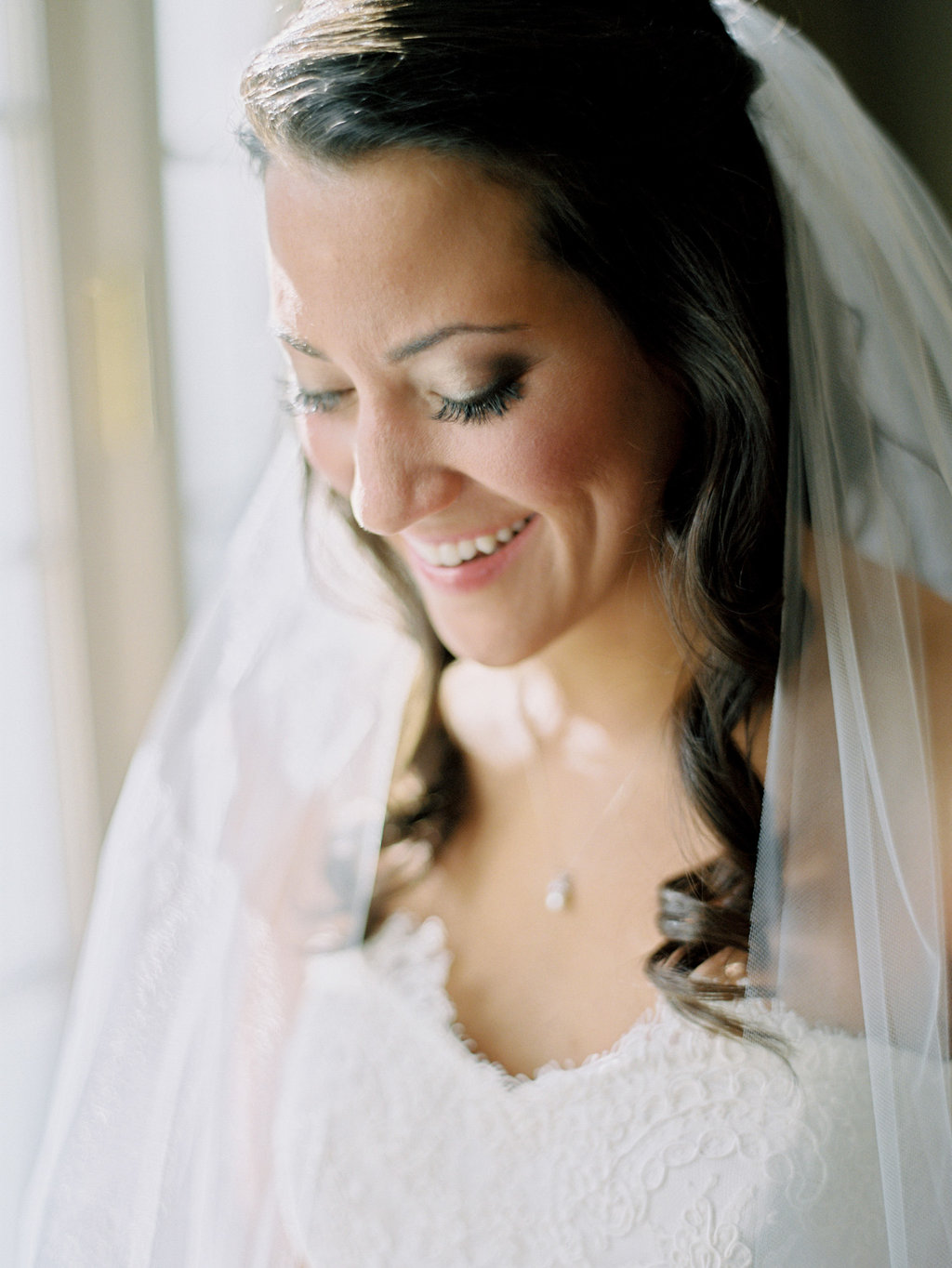 Wedding Planning | New Orleans Wedding | French Quarter Wedding | Sapphire Events | Ryan Ray Photography | White and Green Wedding | Formal Black Tie Wedding | Monique Lhuillier Dress | Hair and Makeup Inspiration | Long Curls | Smokey eye makeup | Bridal portrait