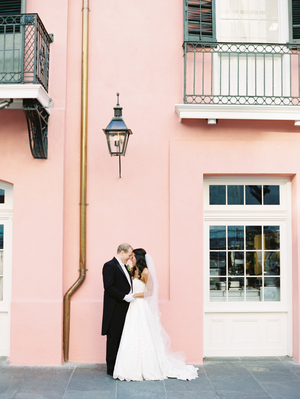 Wedding Planning | New Orleans Wedding | French Quarter Wedding | Sapphire Events | Ryan Ray Photography | White and Green Wedding | Formal Black Tie Wedding | Monique Lhuillier Dress | tux with tails | black tie wedding | formal wedding | Brennan's Restaurant | Royal Street | Blush and white wedding | Pink and white wedding