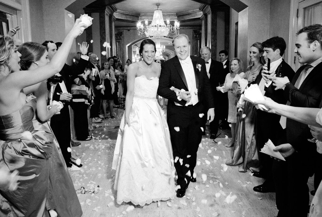 Wedding Planning | New Orleans Wedding | French Quarter Wedding | Sapphire Events | Ryan Ray Photography | White and Green Wedding | Formal Black Tie Wedding | Monique Lhuillier Dress | Formal wedding | Black tie wedding | Green and white wedding | flower petal toss | evening wedding | grand exit inspiration | second line wedding  | formal wedding | black tie wedding
