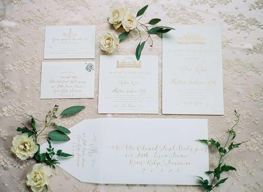 Classic black and white black-tie wedding at home | Sapphire Events | Jacqueline Dallimore Photo | NYE Wedding | Estate Wedding | Tented Wedding | Monique Lhuillier gown | Blush Wedding dress | The Stationery Studio | Gold hand-lettering