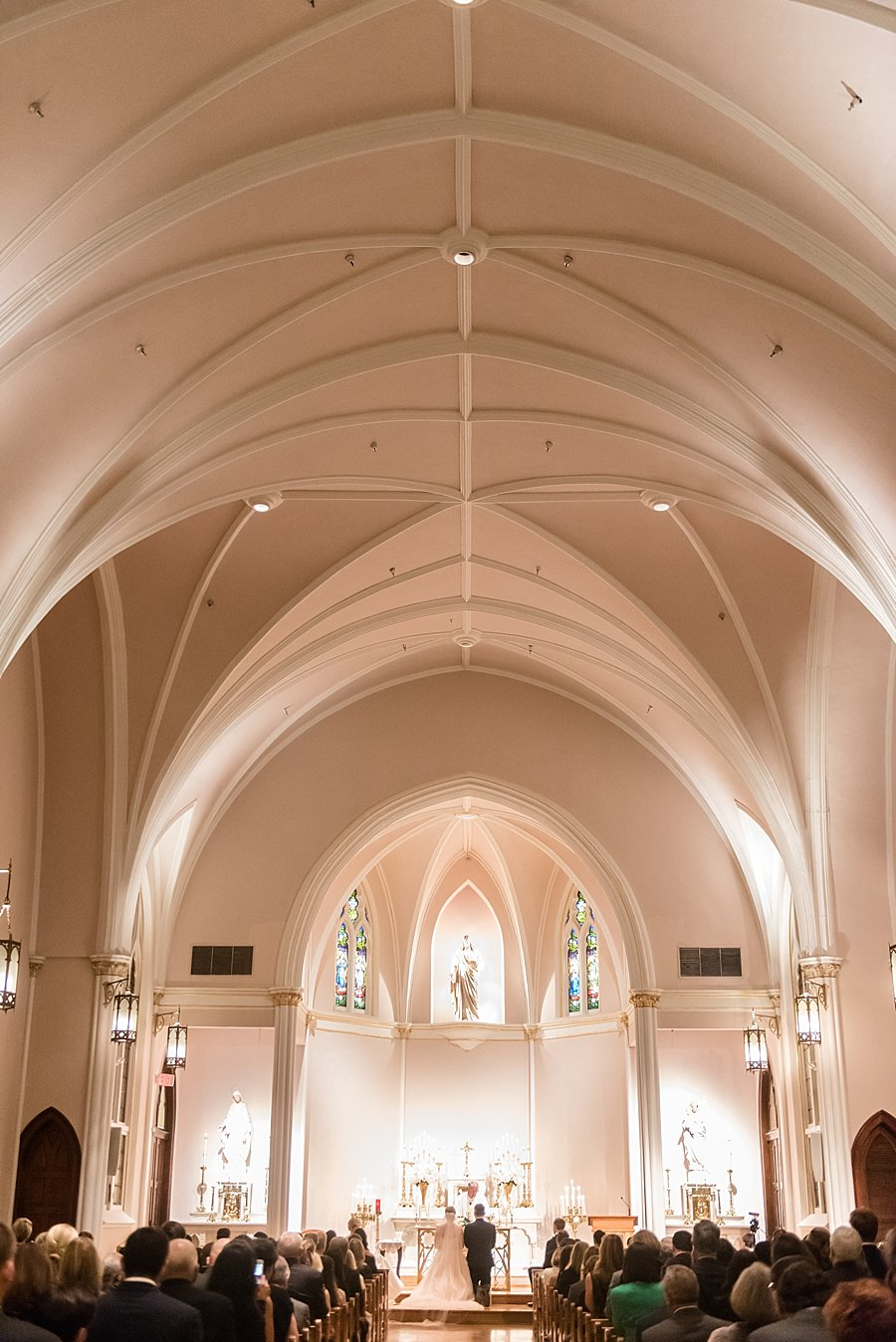 Academy of the Sacred Heart Chapel | Classic black and white black-tie wedding at home | Sapphire Events | Jacqueline Dallimore Photo | NYE Wedding | Estate Wedding | Tented Wedding | Monique Lhuillier gown | Blush Wedding dress