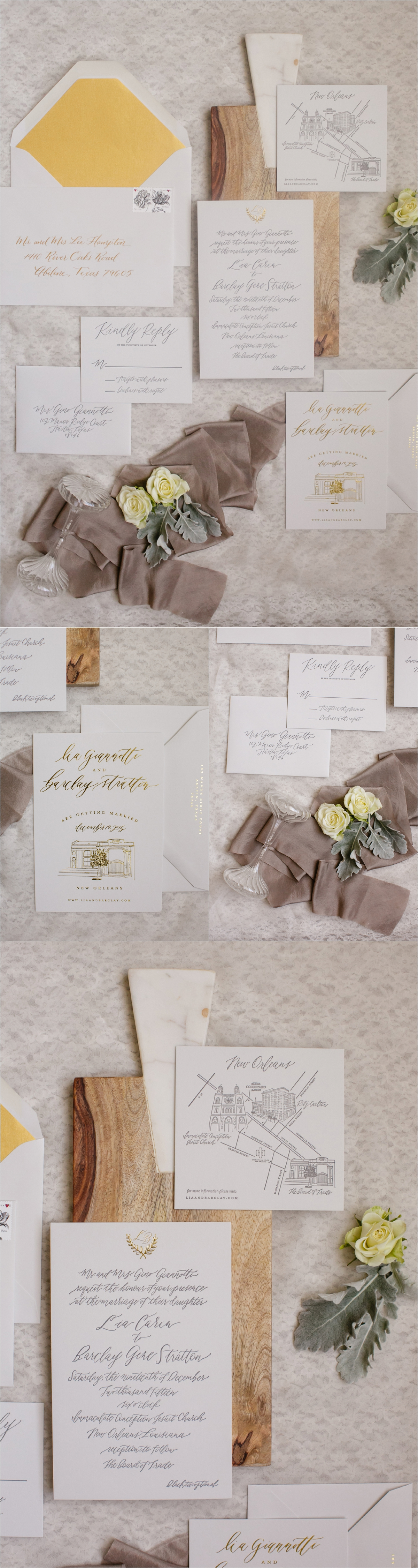 How to transform an open ballroom with stunning decor | Sapphire Events | Greer G Photography | Board of Trade | White and Gold Wedding | Winter Wedding Inspiration | White and Green wedding | Hand lettering | Calligraphy | letterpress