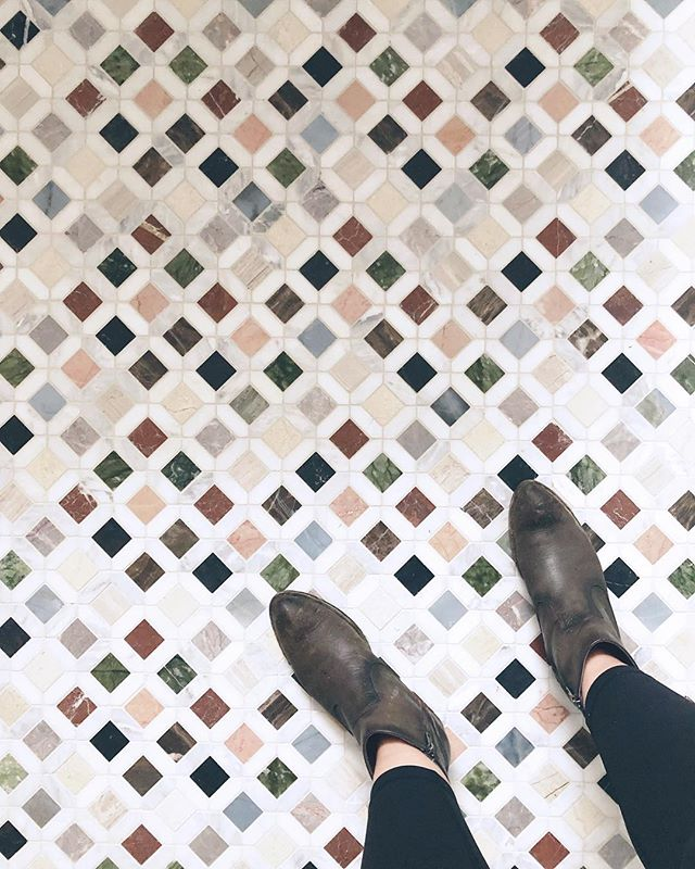 Must have these bathroom floor tiles for myself. ✍🏻 New hotelier in town, in an historic building where I first flourished as a young lawyer in a past life. I love a hardhat tour of a space under construction!