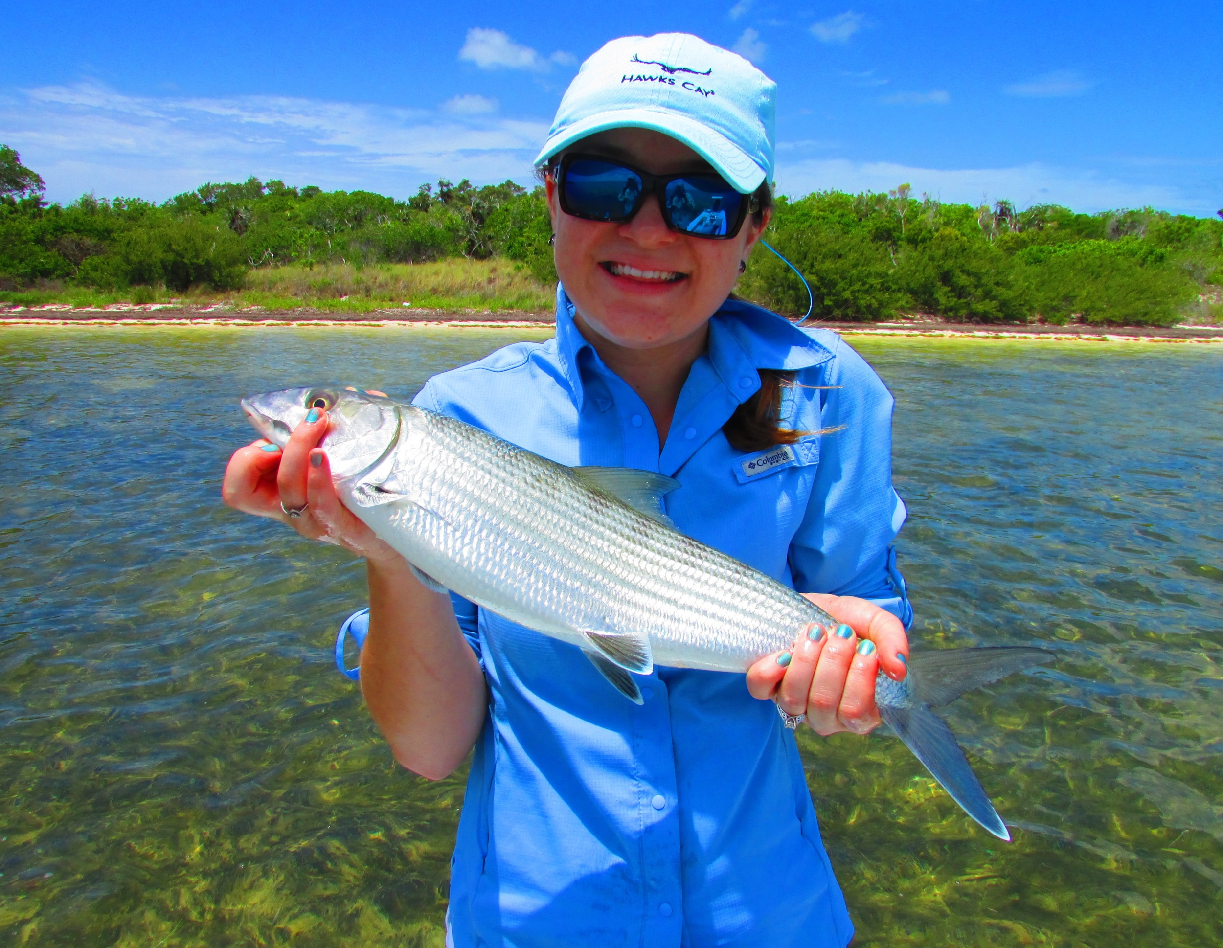 Casey with a beautiful Marquesas bonefish caught with Capt. Shane Wood of Key West, FL