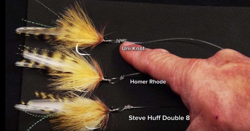 Here are three of the most common loop knots used for tarpon: Uni KNot, Homer Rhode ad Steve Huff Double Figure 8
