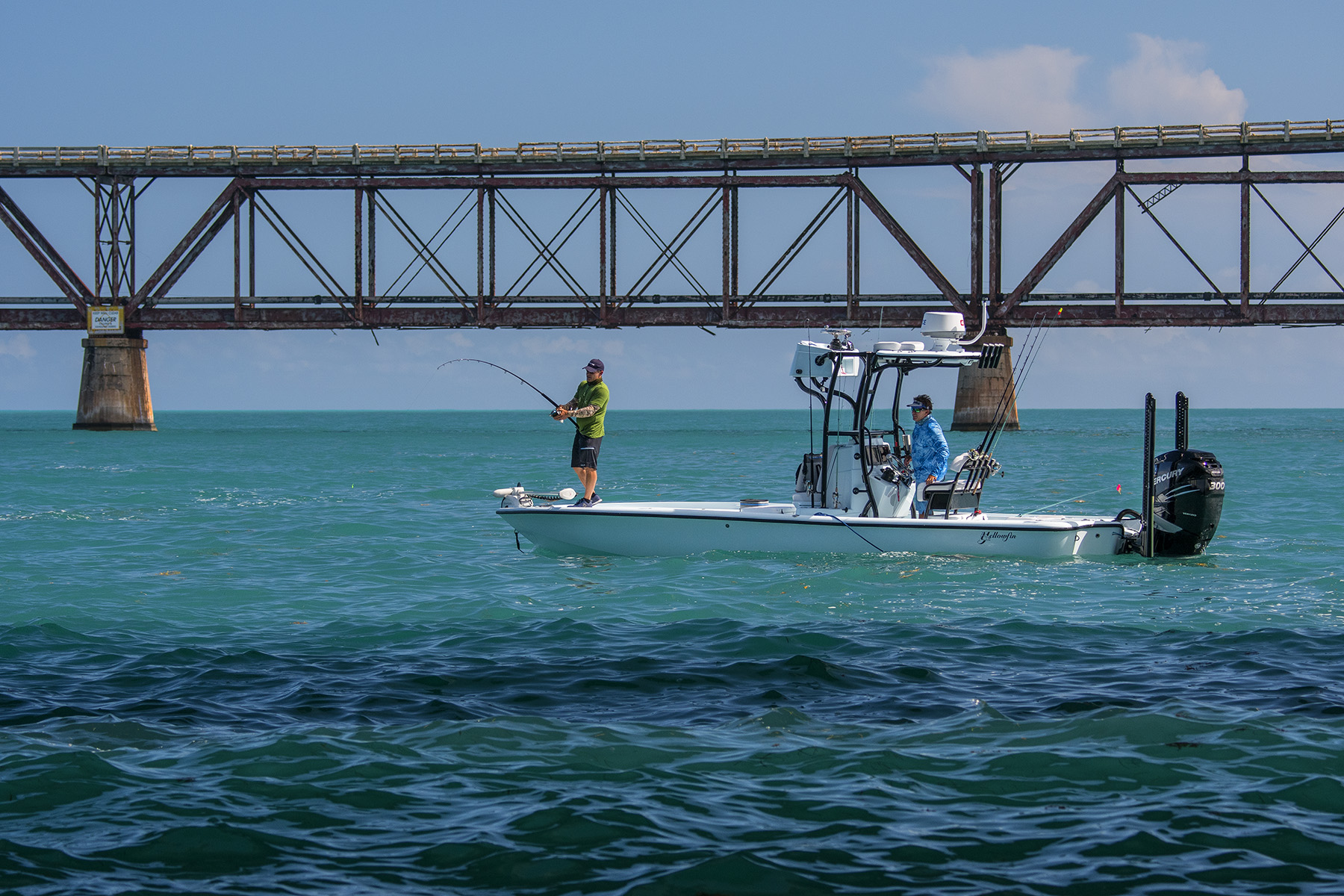 Tom and Rich set out in Bahia Honda for some Tarpon.