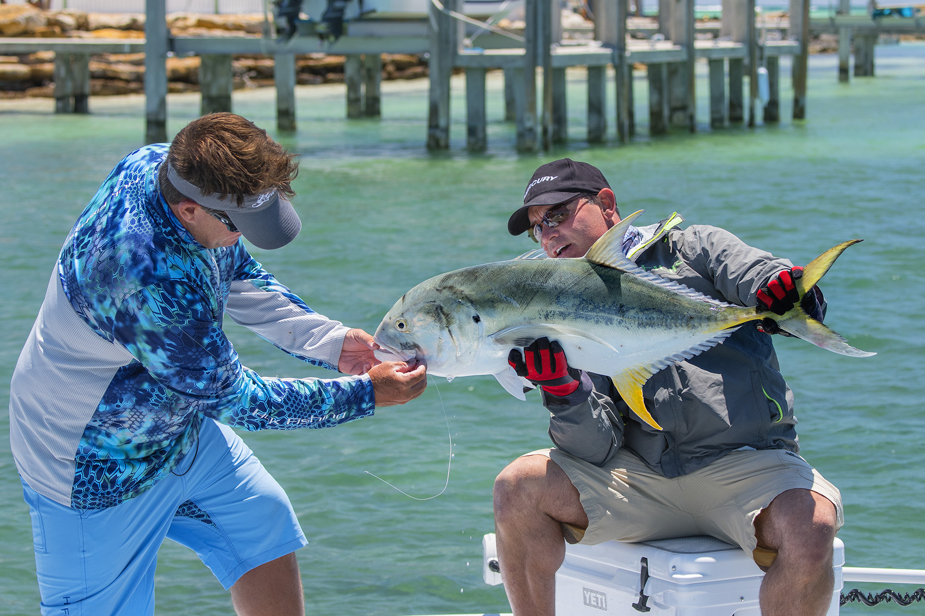 A nice Jack Crevalle on the flats.