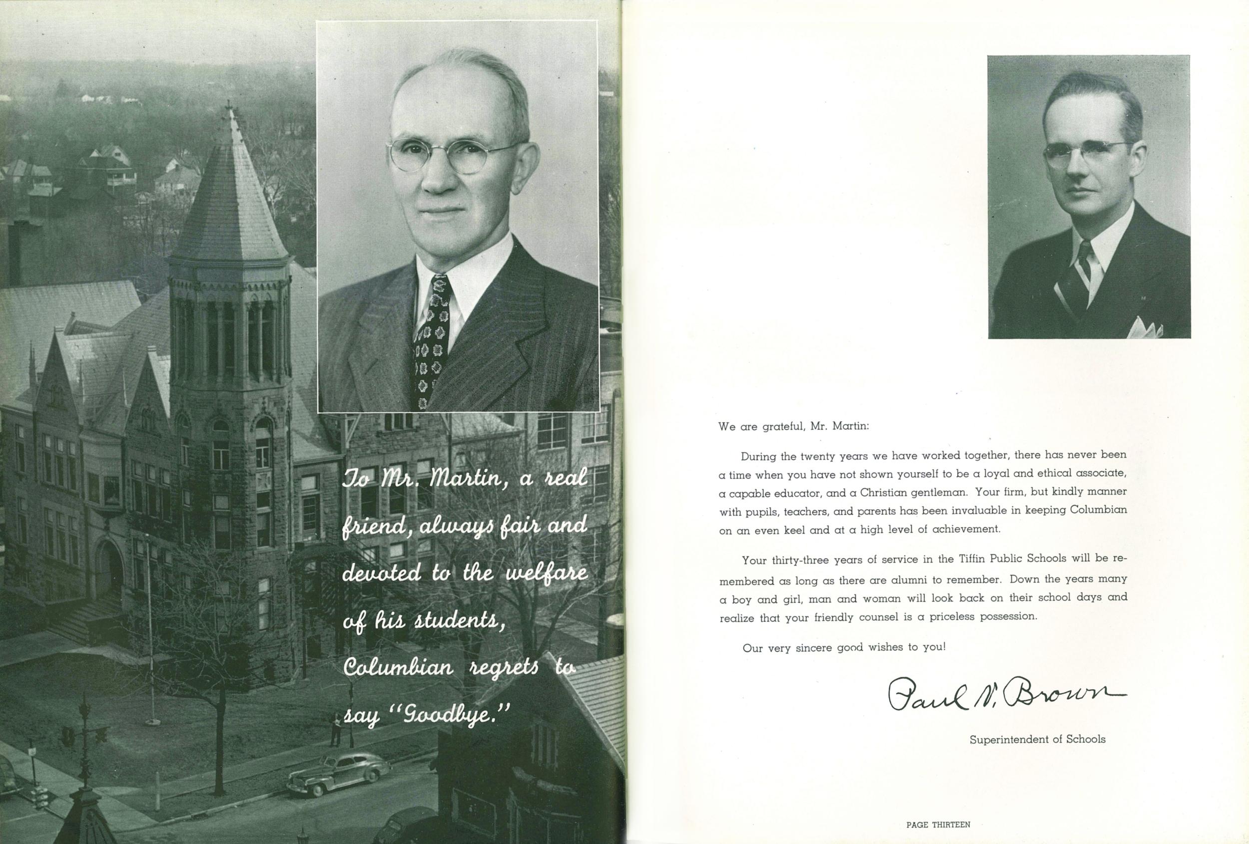 1951 Mr Martin Dedication.jpg