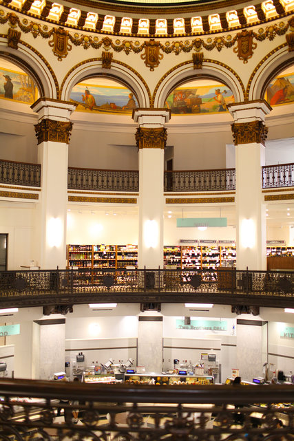 The rotunda that is part of the interior of Heinen's Fine Foods' 33,000-square-foot grocery store, which opened last year in downtown Cleveland.  Credit  Michael F. McElroy for The New York Times