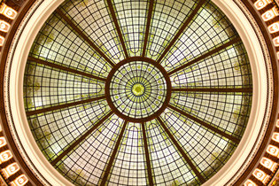 The ceiling of Heinen's Fine Foods in downtown Cleveland.   Credit  Michael F. McElroy for The New York Times