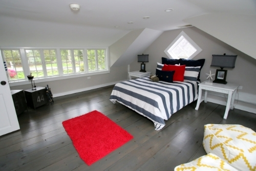 A loft has been converted to a second floor bedroom.  Dave Matlow for WestportNow.com