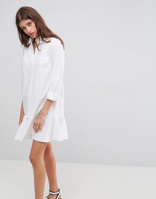 Similar - Shirt Dress With Pep Hem