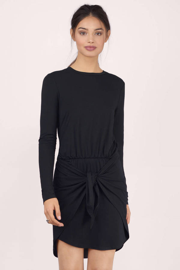 WRAP IT UP NAVY WRAP DRESS