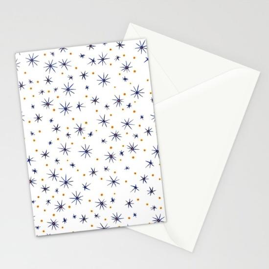blue mattisse cards (x3)