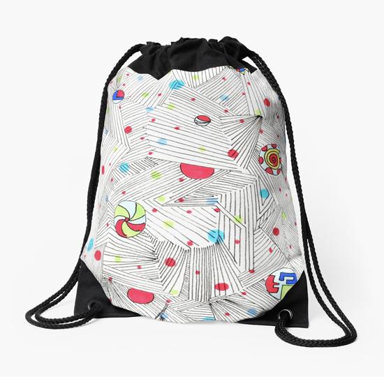 cathedral drawstring bag