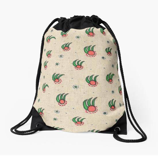 pineapple drawstring bag