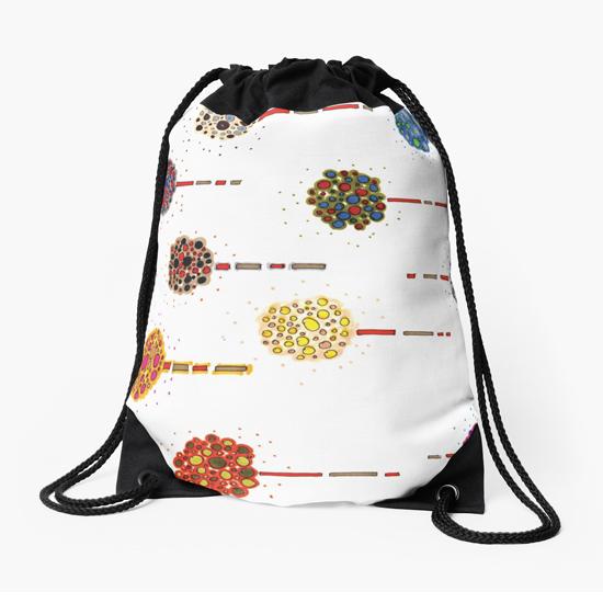 sea holly drawstring bag