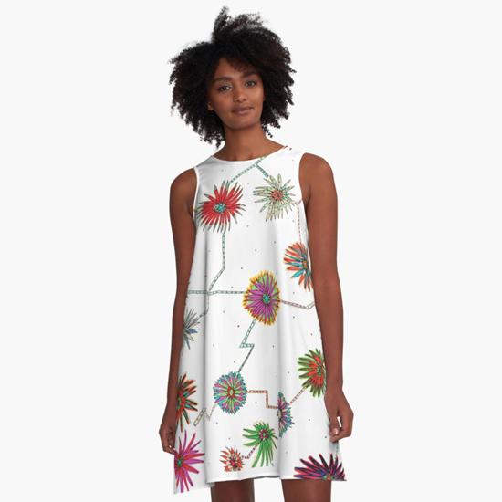 travelling daisy dress