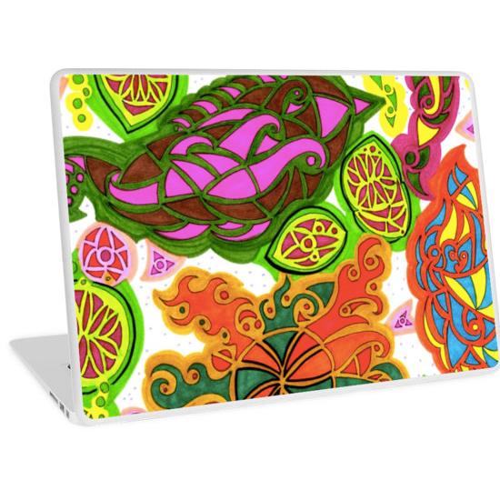 aubergine laptop skin
