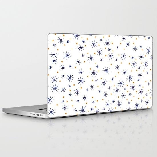 blue mattisse laptop skin