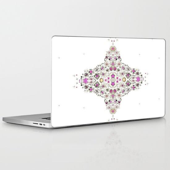 coastal pink laptop skin