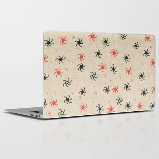 pinwheel laptop skin