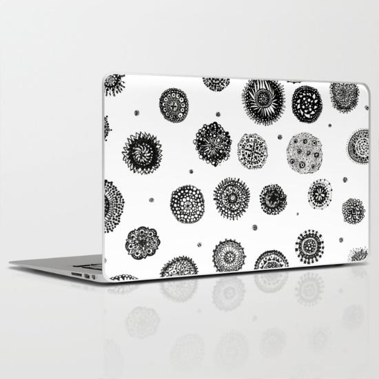 september snow laptop skin