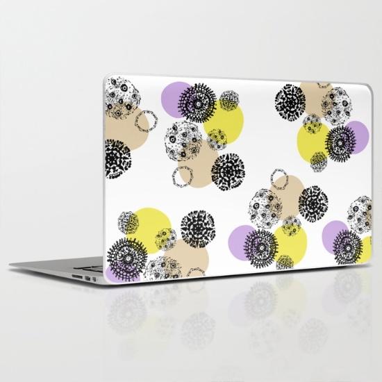 september snow new laptop skin