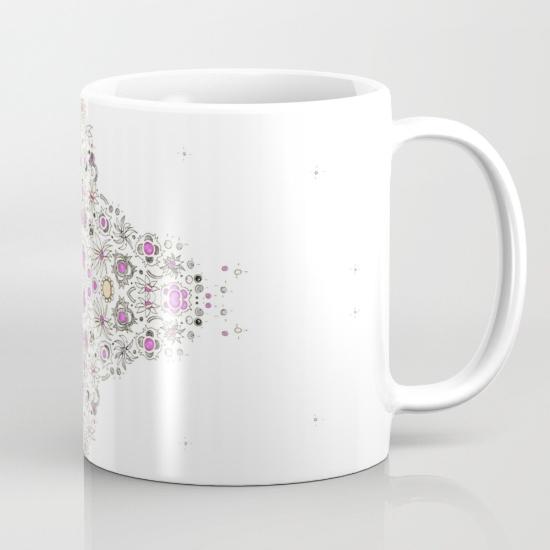 coastal pink mug