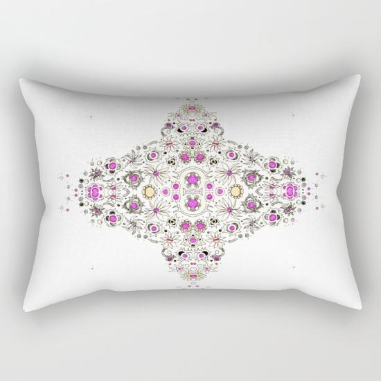 coastal pink rectangular pillow