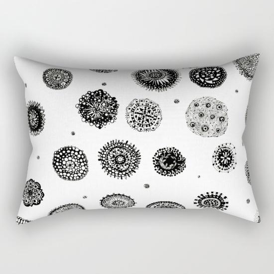 september snow rectangular pillow