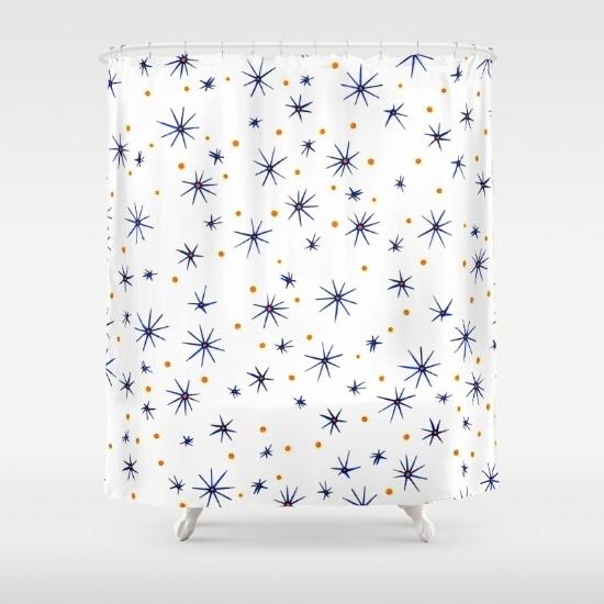 blue mattisse shower curtain